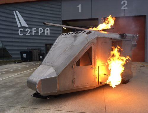 Arrivée du Simulateur feu Hélicoptère